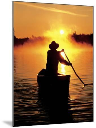 Sunrise Canoeing, Boundary Waters Canoe Area, MN-Amy And Chuck Wiley/wales-Mounted Photographic Print