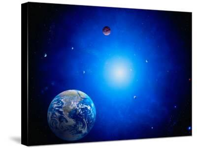 Earth and Sun-Ron Russell-Stretched Canvas Print