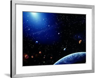 Earth and Star Field-Ron Russell-Framed Photographic Print