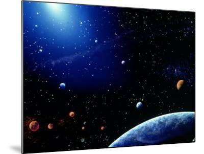 Earth and Star Field-Ron Russell-Mounted Photographic Print