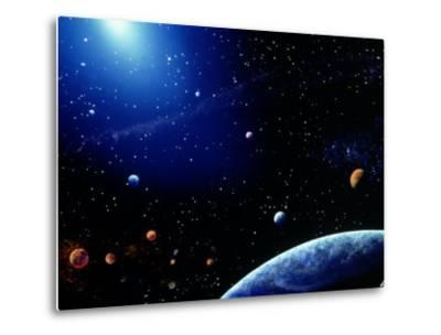 Earth and Star Field-Ron Russell-Metal Print