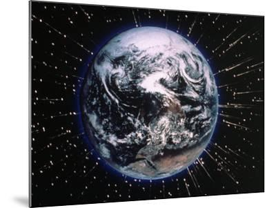 Earth Bombarded by Stars-Chris Rogers-Mounted Photographic Print