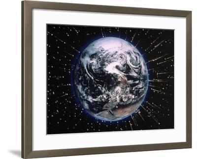 Earth Bombarded by Stars-Chris Rogers-Framed Photographic Print