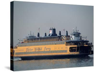 Staten Island Ferry, Staten Island, NY-Chris Minerva-Stretched Canvas Print