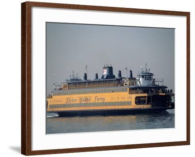 Staten Island Ferry, Staten Island, NY-Chris Minerva-Framed Photographic Print