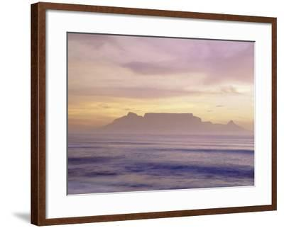 Table Mountain at Dusk, Cape Town, South Africa-Walter Bibikow-Framed Photographic Print