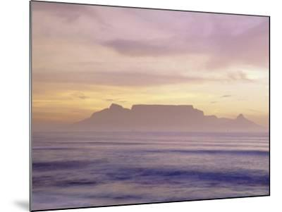 Table Mountain at Dusk, Cape Town, South Africa-Walter Bibikow-Mounted Photographic Print