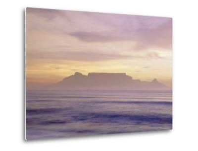 Table Mountain at Dusk, Cape Town, South Africa-Walter Bibikow-Metal Print