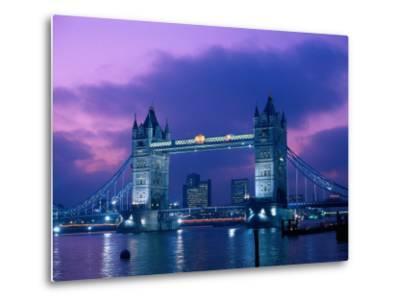 Tower Bridge at Night, London, Eng-Peter Adams-Metal Print