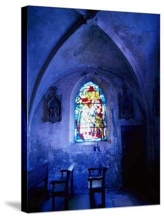 Jean D'Arc Stained Glass in Church, France-Bruce Clarke-Stretched Canvas Print
