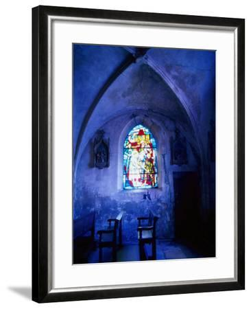 Jean D'Arc Stained Glass in Church, France-Bruce Clarke-Framed Photographic Print