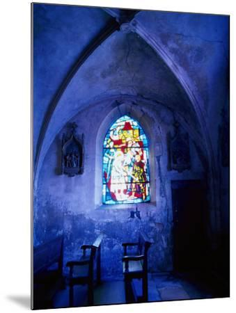 Jean D'Arc Stained Glass in Church, France-Bruce Clarke-Mounted Photographic Print