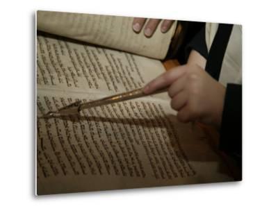 Boy Reading from Torah at Bar Mitzvah-Bill Keefrey-Metal Print