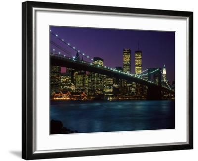 Brooklyn Bridge and Lower Manhattan, NY-Rudi Von Briel-Framed Photographic Print