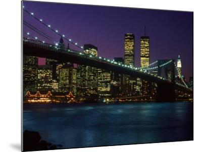 Brooklyn Bridge and Lower Manhattan, NY-Rudi Von Briel-Mounted Photographic Print