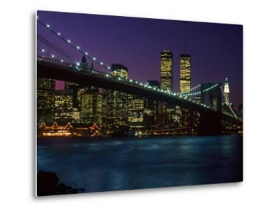 Brooklyn Bridge and Lower Manhattan, NY-Rudi Von Briel-Metal Print