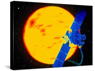Satellite Around the Sun-Greg Smith-Stretched Canvas Print