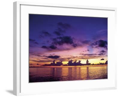 Sunset in the Cayman Islands-Anne Flinn Powell-Framed Photographic Print