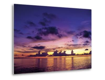 Sunset in the Cayman Islands-Anne Flinn Powell-Metal Print