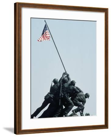 Iwo Jima Statue, Washington DC-Chris Minerva-Framed Photographic Print