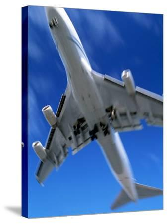 Jetliner Landing, Los Angeles, CA-Gary Conner-Stretched Canvas Print