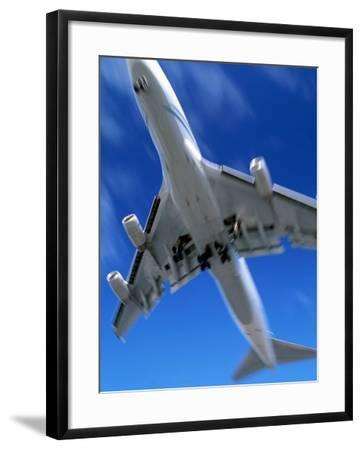 Jetliner Landing, Los Angeles, CA-Gary Conner-Framed Photographic Print