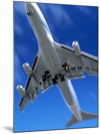 Jetliner Landing, Los Angeles, CA-Gary Conner-Mounted Photographic Print