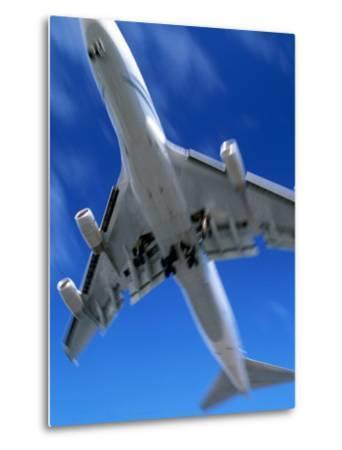 Jetliner Landing, Los Angeles, CA-Gary Conner-Metal Print