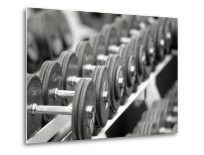 Free Weights in Rack-Bob Winsett-Metal Print
