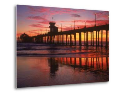 Huntington Beach Pier, CA-Michele Burgess-Metal Print
