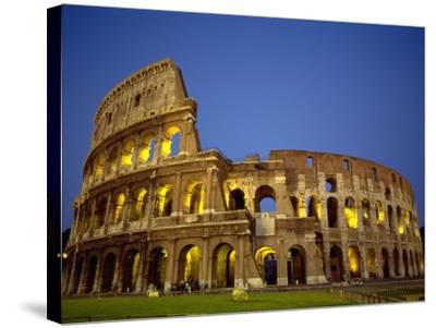 Exterior Amphitheater Ruins, Rome, Italy-Doug Mazell-Stretched Canvas Print