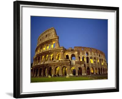 Exterior Amphitheater Ruins, Rome, Italy-Doug Mazell-Framed Photographic Print