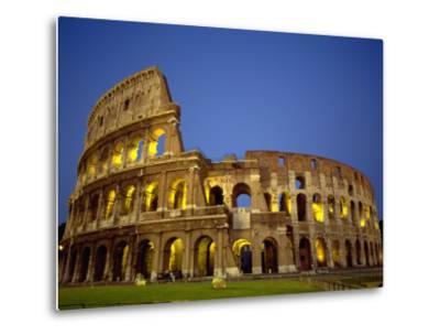 Exterior Amphitheater Ruins, Rome, Italy-Doug Mazell-Metal Print