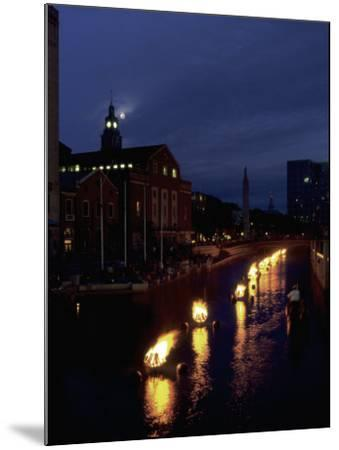 Waterplace Park at Night, Providence, RI-James Lemass-Mounted Photographic Print