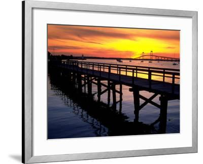 Newport Harbor and Newport Bridge, RI-James Lemass-Framed Photographic Print