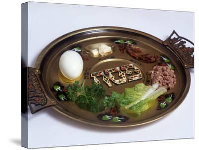 Ceremonial Seder Plate-David Wasserman-Stretched Canvas Print