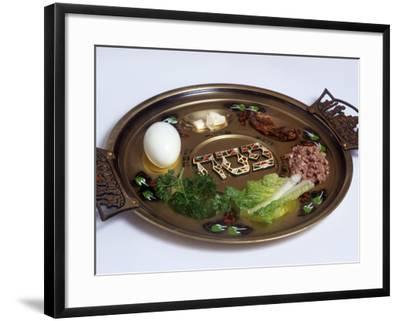 Ceremonial Seder Plate-David Wasserman-Framed Photographic Print