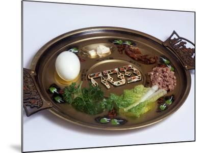 Ceremonial Seder Plate-David Wasserman-Mounted Photographic Print