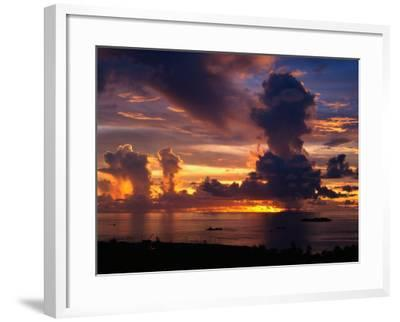 Sunset Over Harbor, Saipan-Francie Manning-Framed Photographic Print
