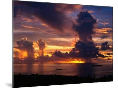 Sunset Over Harbor, Saipan-Francie Manning-Mounted Photographic Print