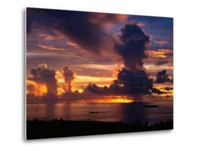 Sunset Over Harbor, Saipan-Francie Manning-Metal Print