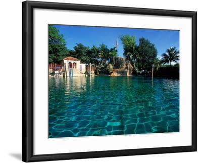 Venetian Pool, Coral Gables, Miami, FL-Robin Hill-Framed Photographic Print