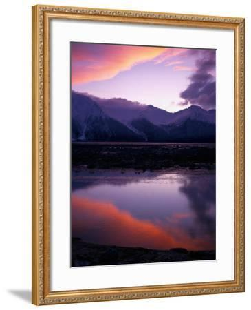 Sunset on Turnagain Arm, South Central Alaska-Hal Gage-Framed Photographic Print