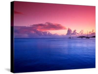 Boats on the Bay at Sunset, Culebra, Puerto Rico-Dan Gair-Stretched Canvas Print