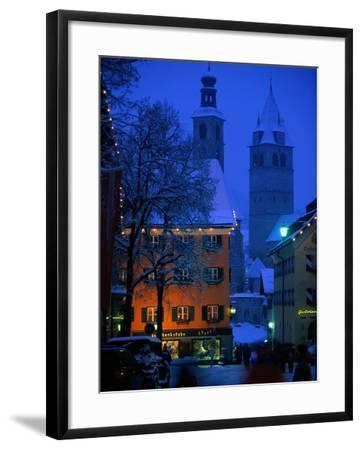 Night Time in Kitzbuhel, Austria-Walter Bibikow-Framed Photographic Print