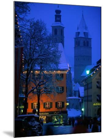 Night Time in Kitzbuhel, Austria-Walter Bibikow-Mounted Photographic Print