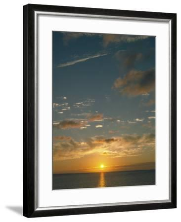 Sunset Over Ocean, HI-Steven Baratz-Framed Photographic Print