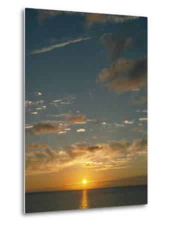 Sunset Over Ocean, HI-Steven Baratz-Metal Print