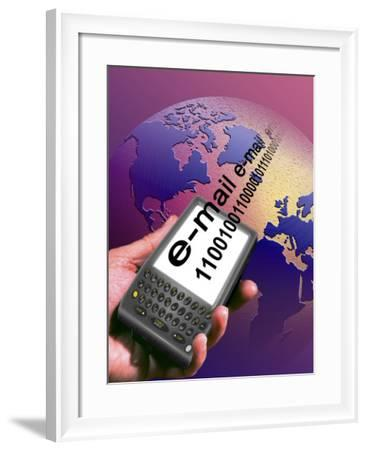 Wireless Internet on Hand Held Computer-Carol & Mike Werner-Framed Photographic Print