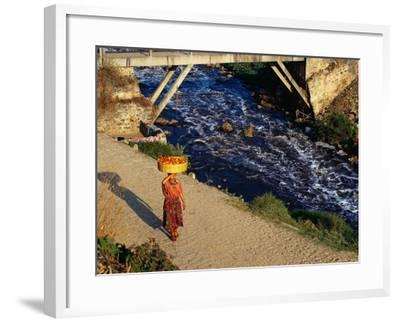 Walking Home from Market, Zunil, Guatemala-Sandy Ostroff-Framed Photographic Print